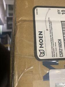 "Moen CSR2160 54"" - 72"" Adjustable-Length Curved Shower Rod - Chrome"
