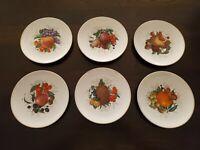 """E&R Golden Crown """"FRUIT"""" Dessert Salad Plate Jaeger & Co Bavaria 7 5/8"""" Set of 6"""