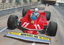 Print Ferrari 312 T4 1979 #11 Jody Scheckter (SAF) winner GP Monaco (OE)