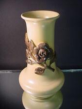 Red Wing Art Pottery Scarce Medallion Line Georgia Rose Vase Shape 196 Art Deco