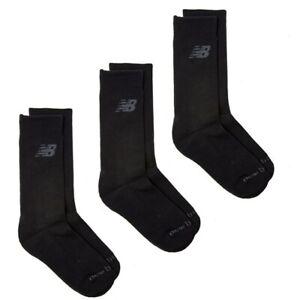 NEW BALANCE Mens 3 Pack Performance Sport Socks Black