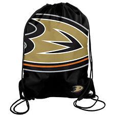 Anaheim Ducks Back Pack/Sack Drawstring Bag/Tote NHL New backpack BIG LOGO