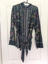 ted baker floral print satin pyjama Top shirt UK10