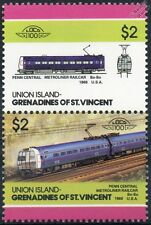 1969 Penn Central METROLINER Railcar EMU Train Stamps / LOCO 100