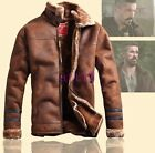 Stand Thick Fur Lining Collar New Mens Winter Flight Bomber Jacket Vintage Coat