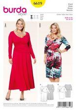 Burda Sewing Pattern 6619 Jersey Bell Shaped Skirt Dress Size 18-28 Uncut
