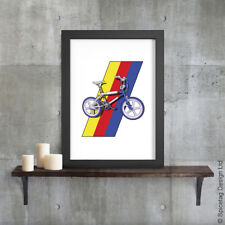 BMX Burner A3 Poster Print Bike Cycling Art Extreme Sports 1980s Grifter Bicycle