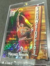 MICHAEL JORDAN 🔥 97-98 TOPPS FINEST REFRACTOR 🌈 SHOWSTOPPERS RARE MINT INSERT