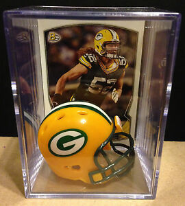 Green Bay Packers Clay Matthews Mini Revolution Helmet Shadowbox w/ card
