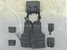 1/6 scale toy GIGN Operator - Black Tactical Vest & Pouch Set