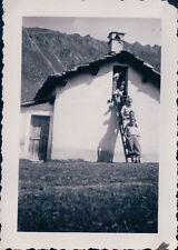 FOTO ALPINISTI AL RIFUGIO VITTORIO SELLA 1939 ALPE LAUSON Valle d'Aosta 7-76
