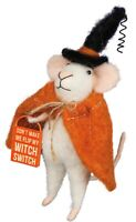 Primitive/Country Christmas Felt Mouse WITCH MOUSE SHIPPING