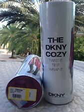 DKNY Donna Karan Cozy Wrap 12 Ways Magenta Twist It Tie It Cardigan Sweater M/L