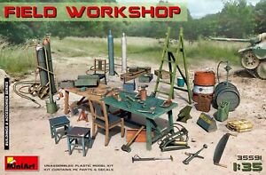 Miniart 35591 Field Workshop Scale Plastic Model Kit 1/35