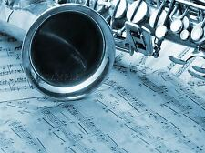 OLD SAXOPHONE NOTES MUSIC PHOTO ART PRINT POSTER PICTURE BMP2346A