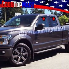 For Ford F150 SUPER CAB 2015 2016 2017 4PC Window Visors Rain Guards Shade Black