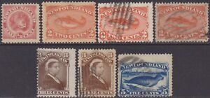 Canada Newfoundland 1887-88 Definitive 1/2c-5c MH & Used Stamps SG49/53