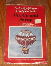 Yours Truly Up Up and Away Hot Air Balloon Applique Home Decor Quilt Pattern