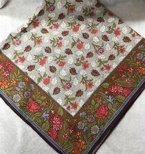 Women Scarf Square Bandana 37x37 Multicolor Floral Headscarf Kerchief Accessory