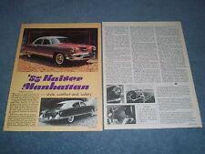 """1953 Kaiser Manhattan Vintage Informazioni Articolo Stile, Comfort e Sicurezza """""""