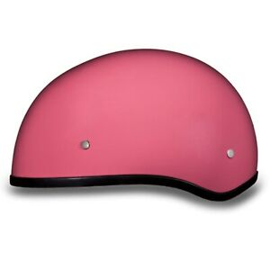 Daytona Biker Helmet, D.O.T. Approved 1/2 Shell Helmets (Skull Cap)