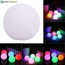 Sfera palla luminosa a LED giardino da esterno IP65 a batteria RGB da 60 cm