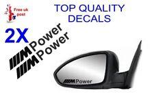 2 X BMW M-POWER Wing Mirror Decals  sticker