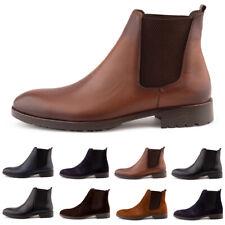 Neu Herren Stiefel Stiefeletten Chelsea Boots Business Leder 1635 Schuhe 40-45