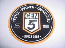 "Glock Gen 5 Tested Proven Unmatched Genuine Glock 4"" Sticker"