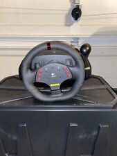 Logitech MOMO Racing Force Feedback Steering Wheel USB PC with Pedals Complete