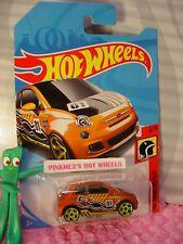 FIAT 500✰satin orange;yellow pr5✰2/5 HW DAREDEVILS✰2018 i Hot Wheels case A/B