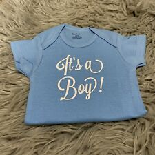 "0/3 Month ""It'S A Boy!� Blue Baby Boys Bodysuit Outfit"
