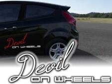 Auto Aufkleber Devil on Wheels Sticker 25cm JDM OEM Decals