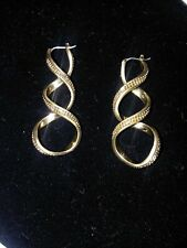 LIZ CLAIBORNE Jewelry Goldtone Twisted Dangle Hypo-Allergenic Snap-Post Earrings