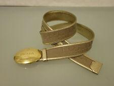 PRADA Milano Leder Logogürtel Gr.95 38 Logoschnalle Logoschriftzug Gold