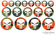17 x calavera Punisher sticker BMX MX gp camuflaje decal Skull tatuaje color 5