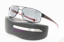 TAG HEUER TH 0255 110 Chrome/Red Outdoor Gray Sport Sunglasses NWC AUTH