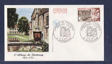 enveloppe 1er jour  abbaye de Fontenay  Marmagne     1977  2c