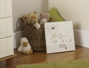 Baby Baxter the Bear Wall Canvas Nursery Decoration Accessories Gifts