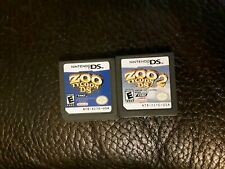 Zoo Tycoon DS 1&2 Nintendo DS NDS game lot of 2
