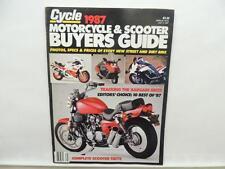 July 1987 CYCLE Magazine Motorcycle Scooter Buyers Guide Honda Kawasaki L7122