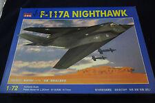 F-117A Nighthawk 1:72 Model Kit by KiTech; Unbuilt, Pre-Owned, New in Open Box