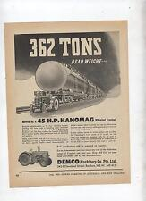 45 H.P. Hanomag Tractor Advertisement removed from 1952 Farming Magazine