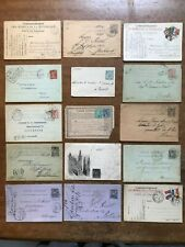 15 x French Postal Stationery / Postal History Items - incl WWI - ref254