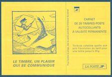 Carnet DAB 20 timbres Luquet TVP rouge autoadhésif N°3085-C5 neuf**