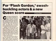 1980 VINTAGE 1PG SHORT PRINT ARTICLE ON FLASH GORDON QUEEN SCORE FREDDIE MERCURY