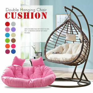 2 Seat Egg Chair Cushion Mat Hanging Swing Chair Pad Home Patio Decor Washable