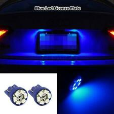 2x Blue LED LICENSE PLATE TAG LIGHT BULB FOR T10 158 161 168 194 2825 3652 w5w