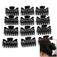12x Salon Hairdressers Hairdressing Black Plastic Hair Claw Section Clip Clamp