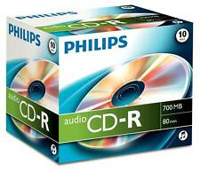 1x10 Philips CD-R 80Min Audio JC CD-R 12cm